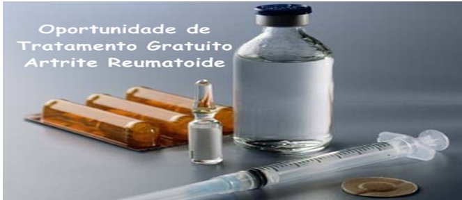 Artrite Reumatoide, oportunidade tratamento com Novos Medicamentos Grátis