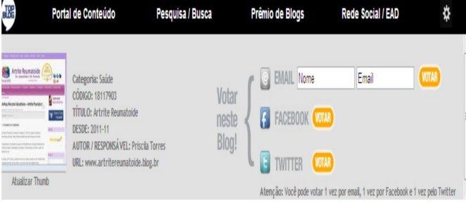 Vote no Blog AR para o Prêmio Top  Blog 2012