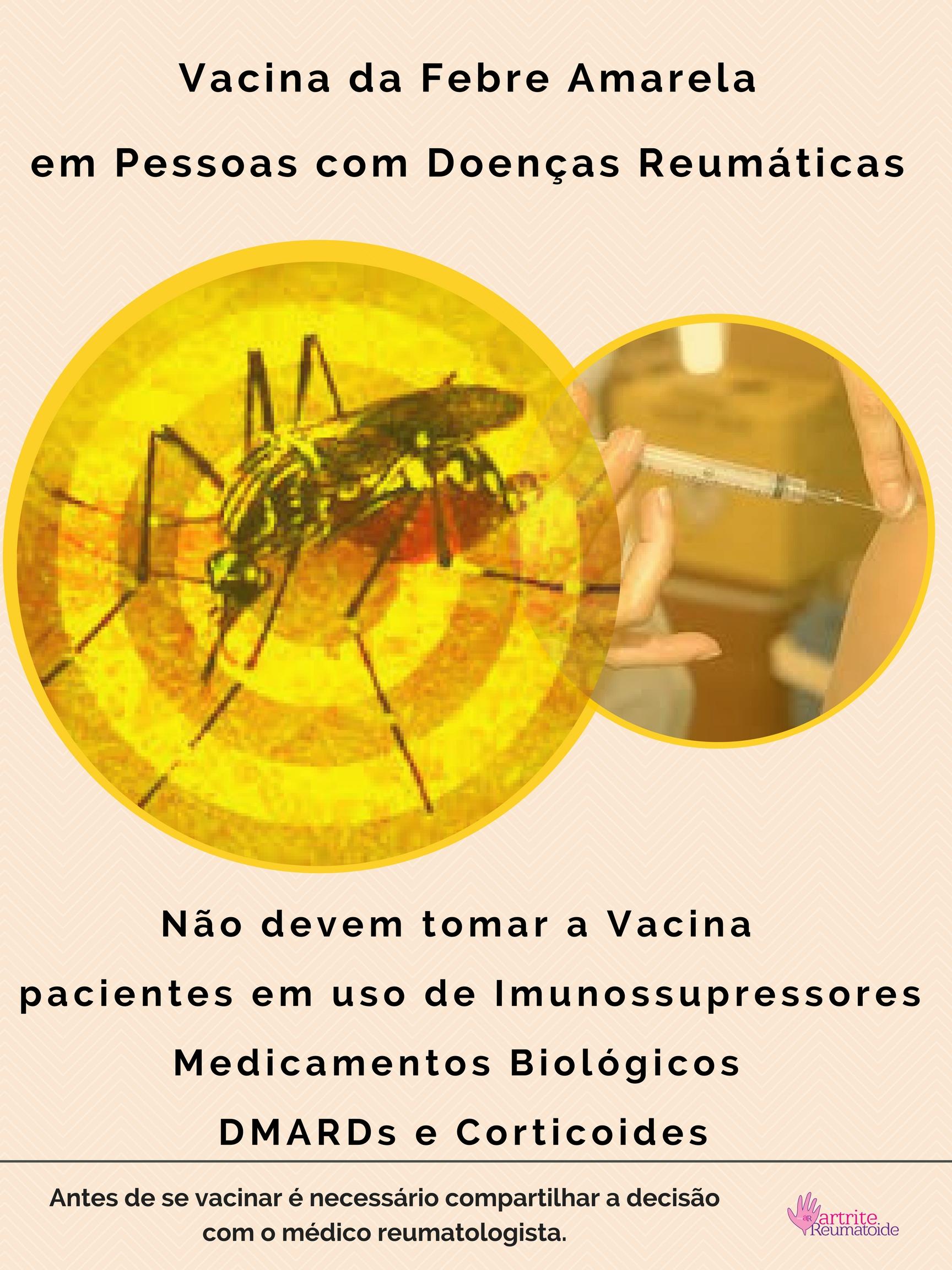 Vacina Febre Amarela pessoas doenças reumáticas