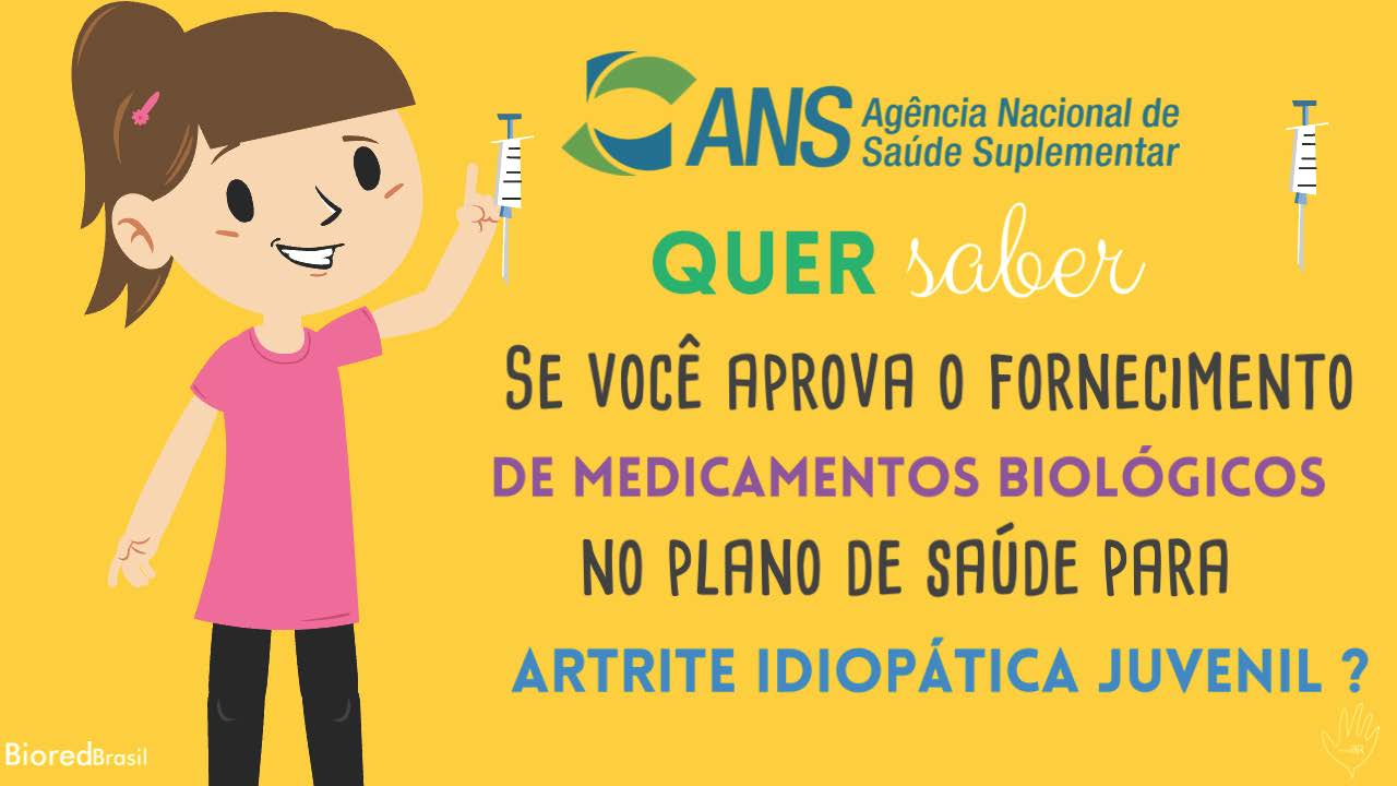 Participe da consulta publica para a inclusao de novos medicamentos no plano de saude para artrite idiopatica juvenil
